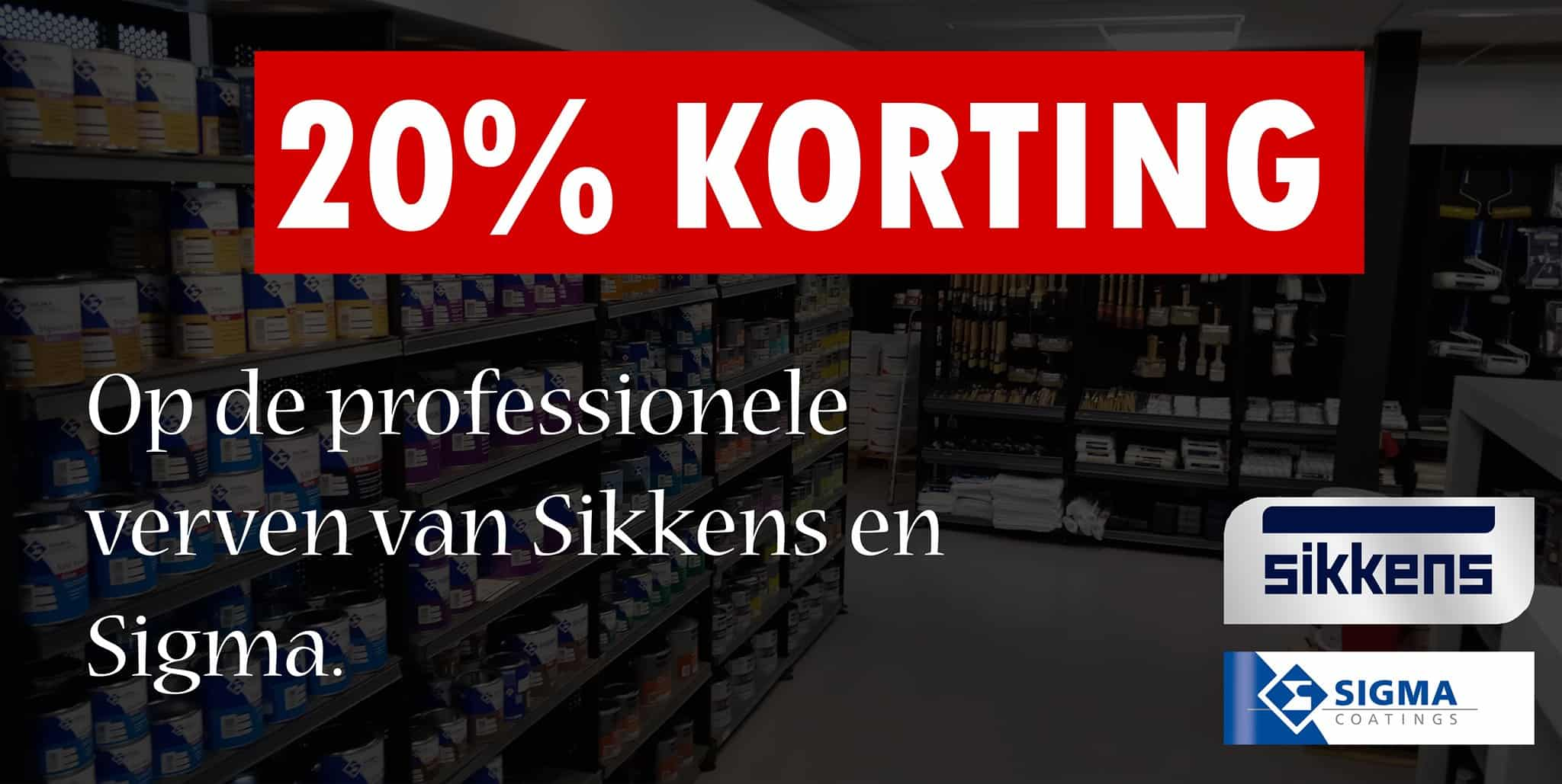 20% Korting Sikkens Sigma