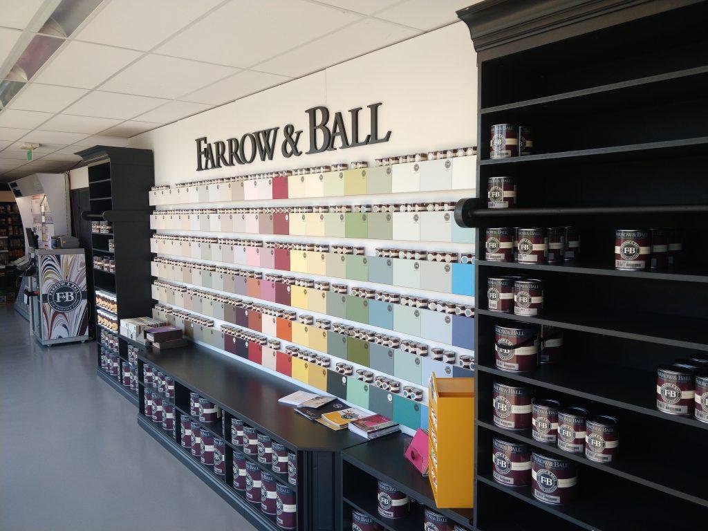Vernieuwde showroom kleuren Farrow Ball